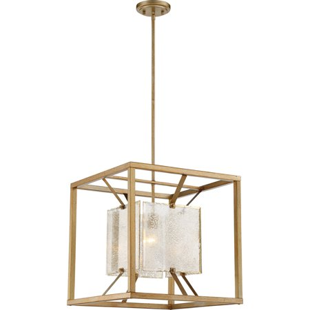 Pendants 1 Light With Antique Gold Tones Finish Steel Medium Base 18 inch 60 Watts Antique Gold Tone Base