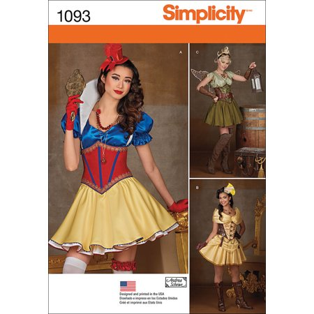 Simplicity Misses' Cosplay Costumes, 14-16-18-20-22