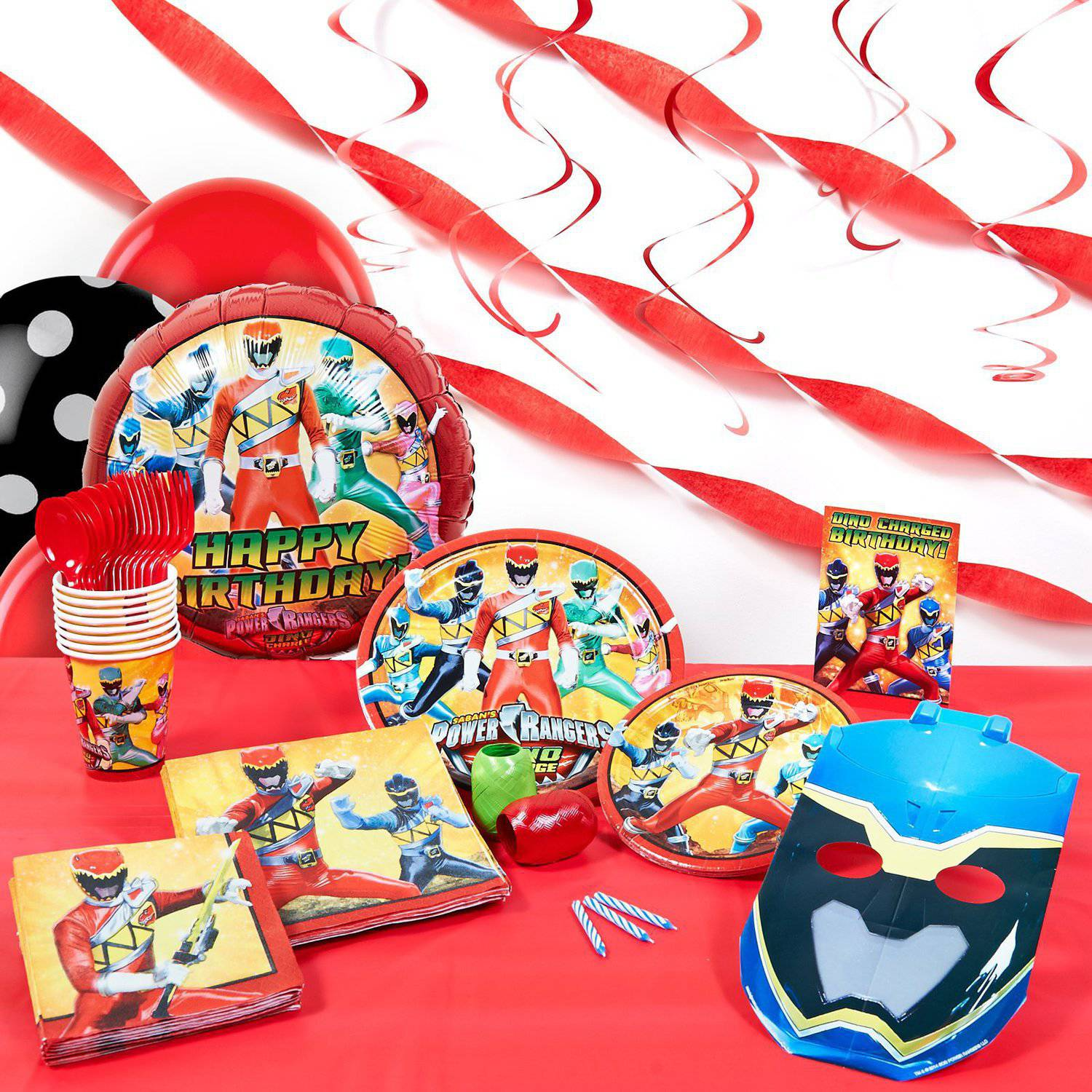 Power Rangers Dino Charge Super Deluxe Party Kit - Walmart.com