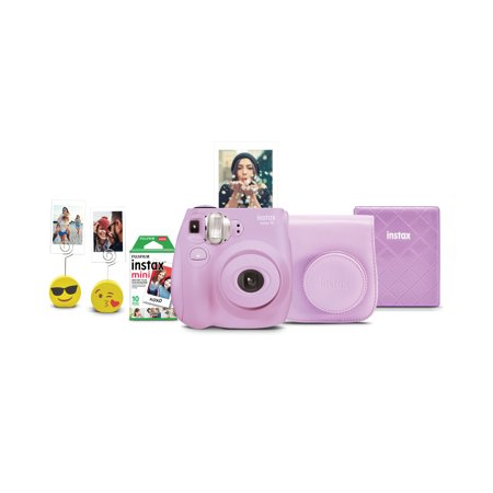 Fujifilm Instax Mini 7s Instant Camera w/ Matching Case, Film, Photo Album & Photo Holders - Lavender