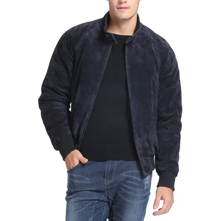 Landing Leathers Men's WWII Suede Leather Bomber Jacket (Regular & Tall sizes)