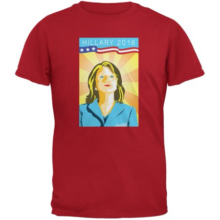 Election Hillary Clinton Poster Red Adult T-Shirt