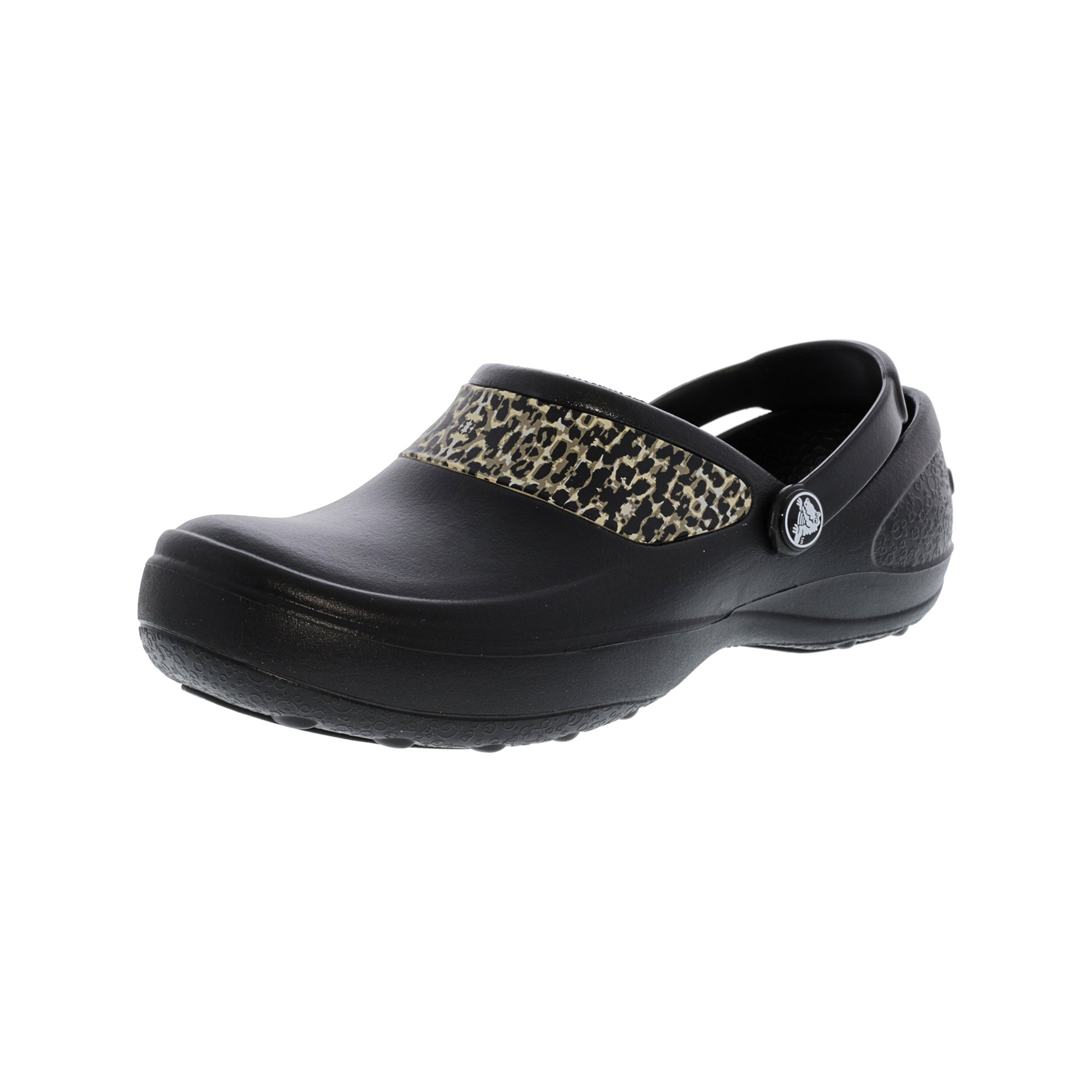 9772a6ddcd9b57 Buy Crocs Women s Mercy Work Black - Gold Ankle-High Flat Shoe - 11M ...