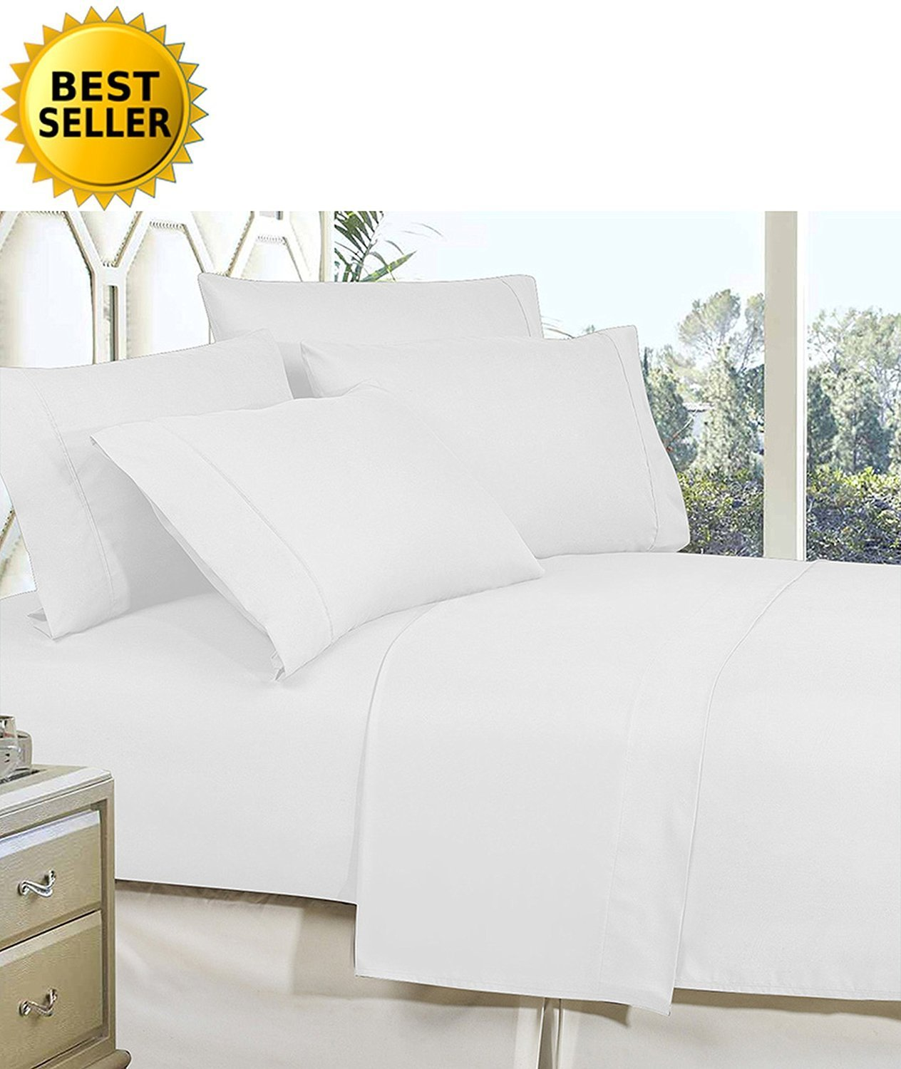 Best Softest Coziest Bed Sheets Ever! 1800 Thread Count Egyptian Quality Wrinkle-