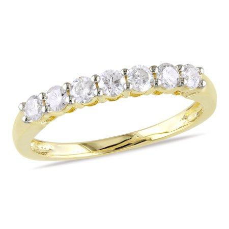 Ultra Diamonds Anniversary Ring - 1/2 Carat T.W. Diamond 10kt Yellow Gold Semi-Eternity Anniversary Ring