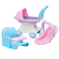 American Plastic Toys My Doll 3-Piece Doll Care Play Set