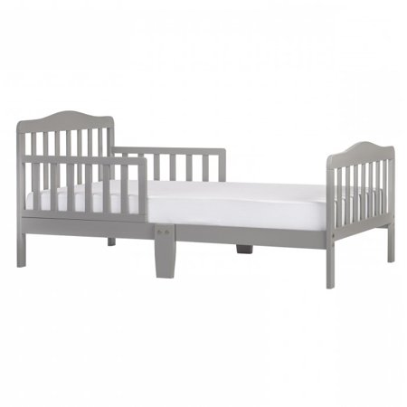 Dream On Me Classic Design Toddler Bed, Cool Gray