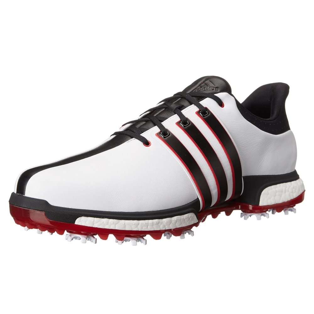 Adidas  Tour360 Boost Golf Shoes  White/Core Black/Red