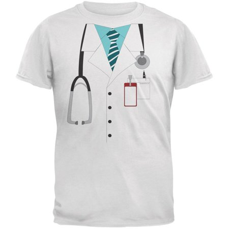 Halloween Doctor Costume White Youth T-Shirt](Female Doctor Names For Halloween)