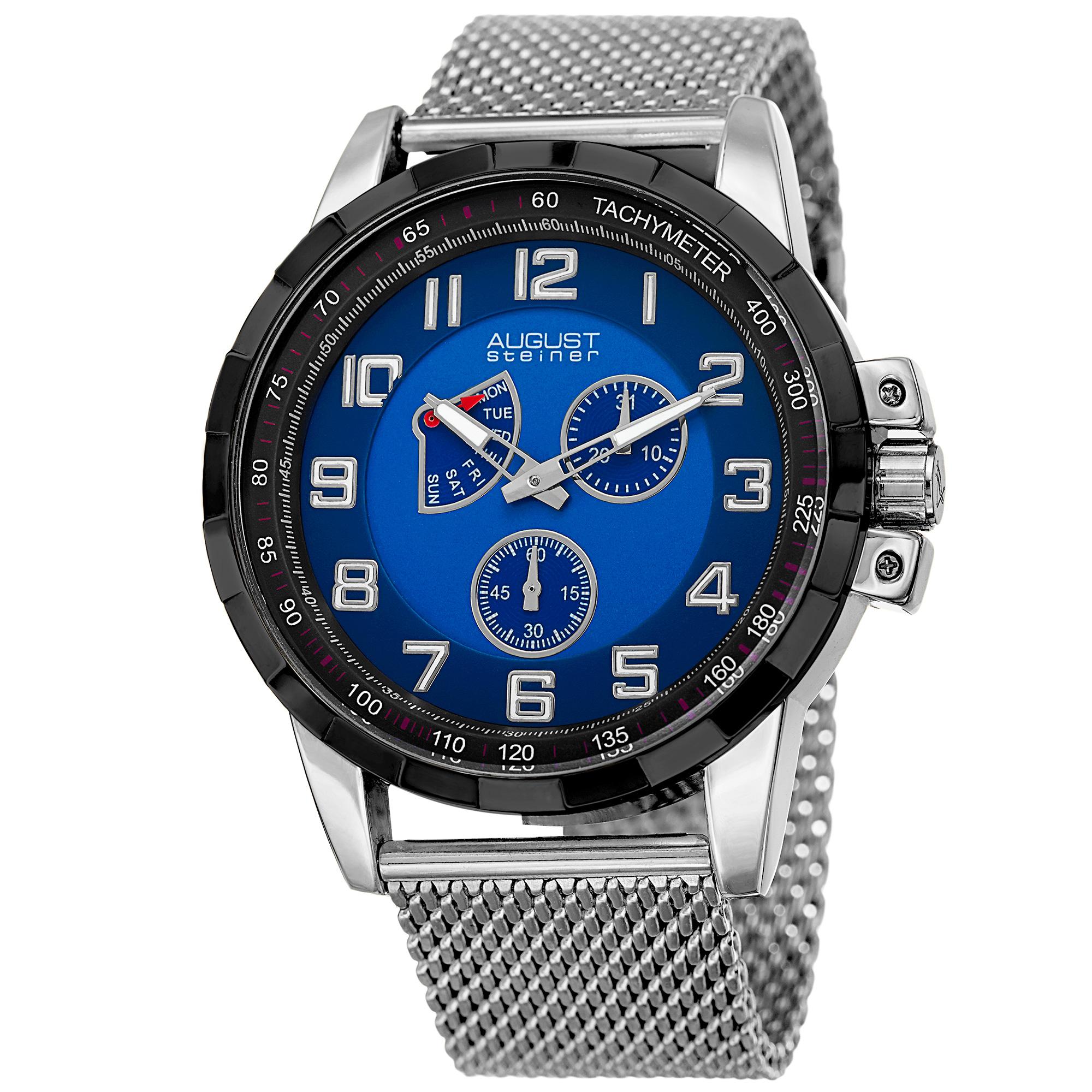 Men's Quartz Quartz Stainless Steel Mesh Silver-Tone Bracelet Watch