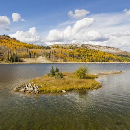 Utah, Manti-La Sal National Forest. Duck Fork Reservoir Print Wall Art By Jaynes (Utah Duck)