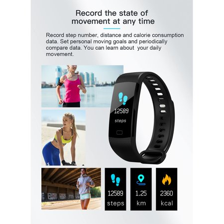 Fitness Tracker w/ Heart Rate Monitor, Waterproof Activity Tracker Watch Color Screen Smart Band with Blood Pressure Oxygen Sleep Monitor For Women Men - image 5 of 13