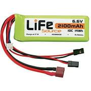 HOBBICO LiFeSource LiFe 6.6V 2100mAh 10C Rx U Connector [Toy] Multi-Colored