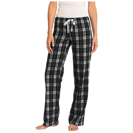 District Women's Elastic Waistband Flannel Plaid Pant (Plaid Short Pants)