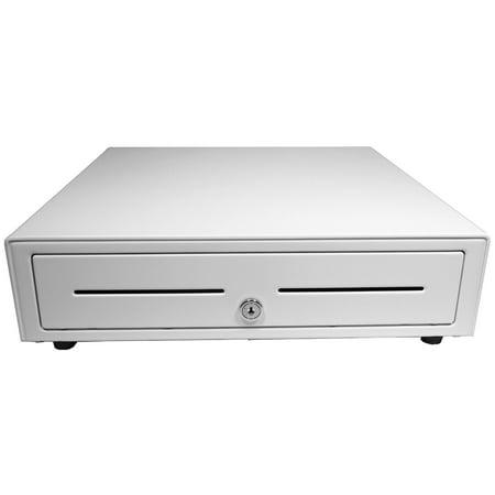 APG Vasario 1616 Cash Drawer with 320 MultiPro Interface - 5 Bill/5 Coin, White Apg Vasario Cash Drawer Accessories