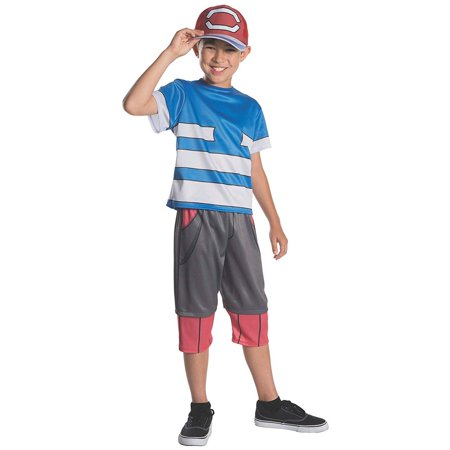 Pokemon Ash Sacha Childs size M 8/10 Licensed Costume Outfit Rubie's (Ash Cosplay Pokemon)
