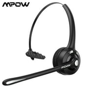 Mpow Pro Office Headset Bluetooth 5.0 Wireless Headphone with with Noise Cancelling Mic&16H Talk Time for Call Center