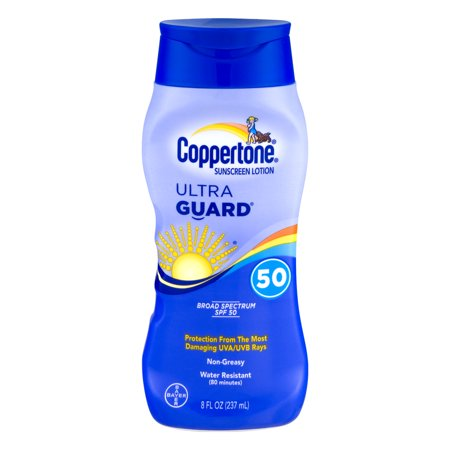 Coppertone Sunscreen Lotion Ultra Guard 50 Spf  8 0 Fl Oz