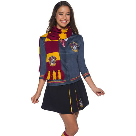 The Wizarding World Of Harry Potter Gryffindor Deluxe Scarf Halloween Costume Accessory - Out Of This World Costumes