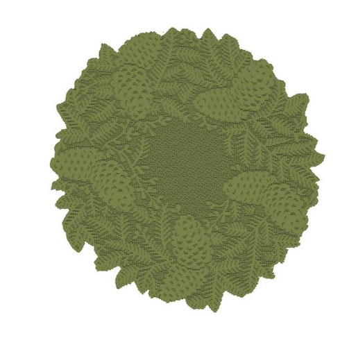 Heritage Lace Highland Pine Round Doily (Set of 2)