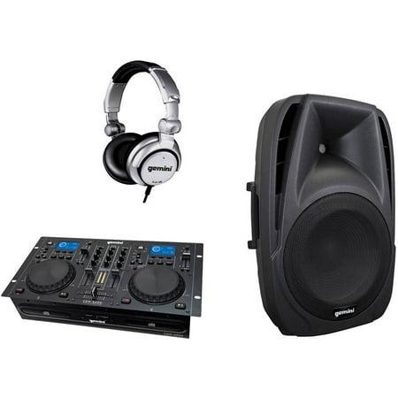 """Gemini CDM-4000 CD MP3 USB DJ Media Player and Gemini Es-12p 12"""" ES Series Loudspeaker and Gemini Djx-05... by"""