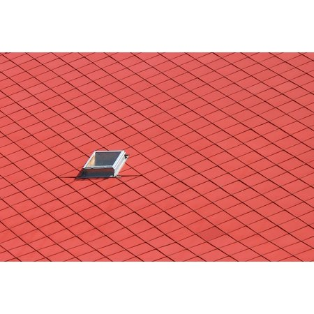 Canvas Print Building Texture Rooftop Background Roof Red Stretched Canvas 10 x 14 ()