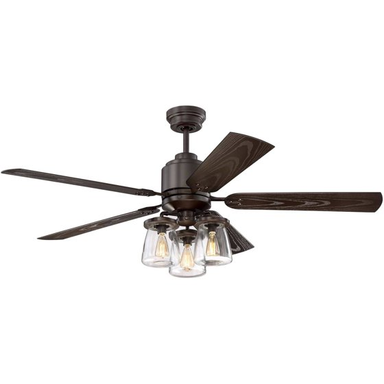 litex industries andrus collection 52 ceiling fan rated. Black Bedroom Furniture Sets. Home Design Ideas