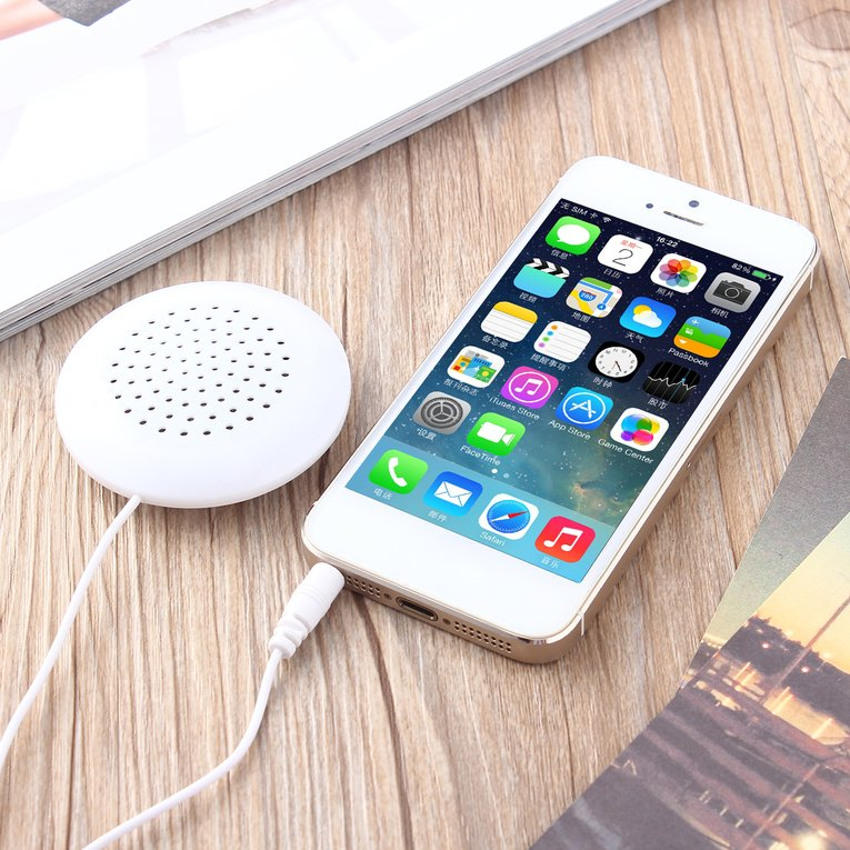 Mini White 3.5mm Pillow Speaker for MP3 MP4 Player For iPhone For iPod CD Radio