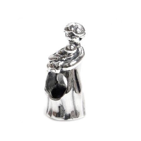 1534bc9fe Queenberry - Queenberry Sterling Silver Mom Baby Mother Forever Love Family  Bead for European Charm Bracelets Fits Pandora - Walmart.com