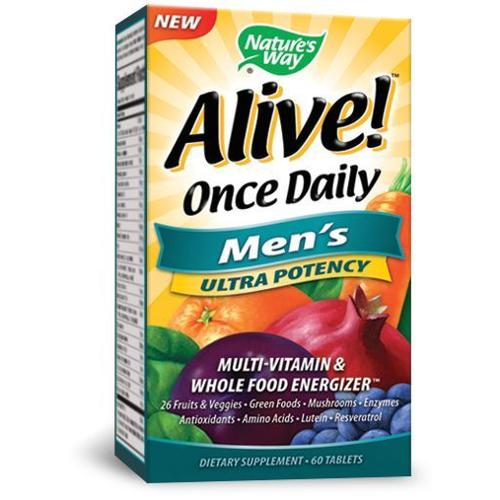 Alive Once Daily Mens Ultra Potency Nature's Way 60 Tabs