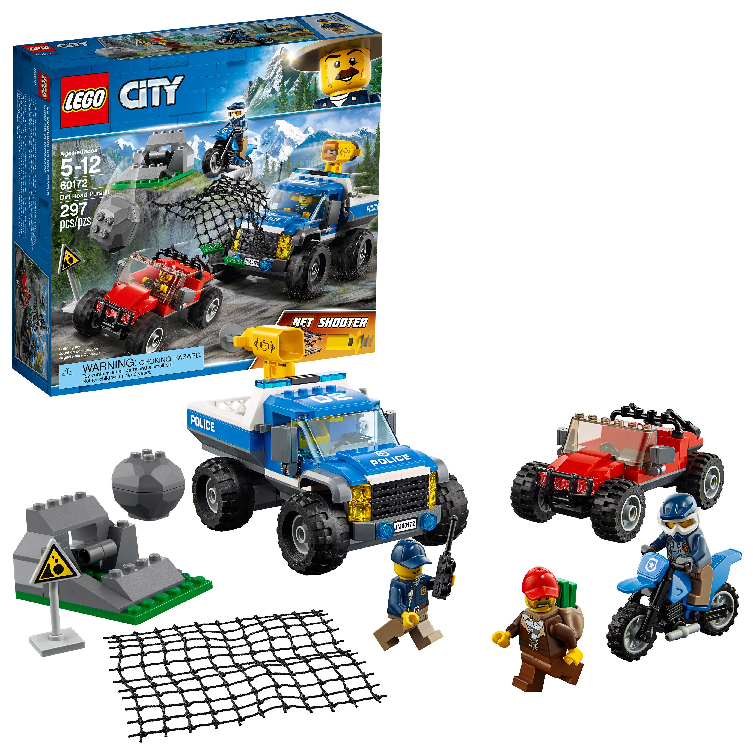 LEGO City Police Dirt Road Pursuit 60172 Building Set