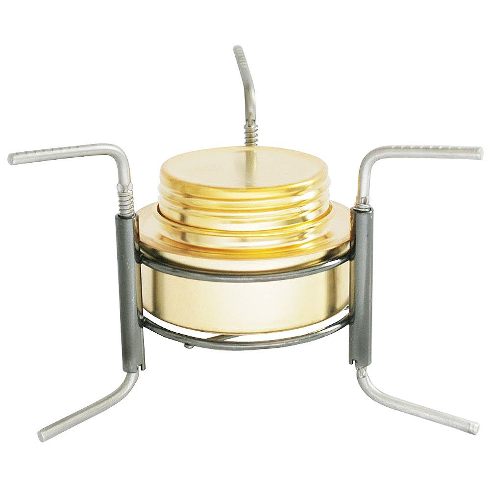 SODIAL Copper Alloy Portable Mini Ultra-light Spirit Burner Alcohol Stove Outdoor Camping Stove Furnace with Stand B9-1 by SODIAL