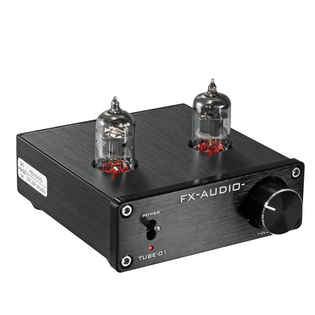 DC12V Black Audio Mini 6J1 Valve & Vacuum Tube Pre Amplifier Stereo