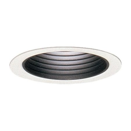 Lightolier 2005 3-3/4 Inch Down Light Step Reflector Baffle Trim Round Matte Black Lytecaster