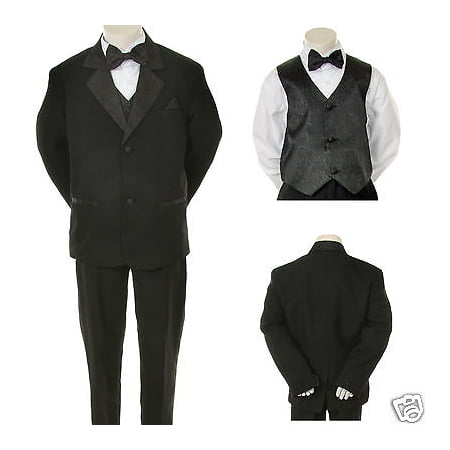 Infant,Toddler,Boy Wedding Formal Black Party Tuxedo Suit S M L XL 2T 3T 4T-20](Boys Tuxedo)
