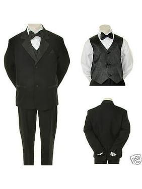 Infant,Toddler,Boy Wedding Formal Black Party Tuxedo Suit S M L XL 2T 3T 4T-20