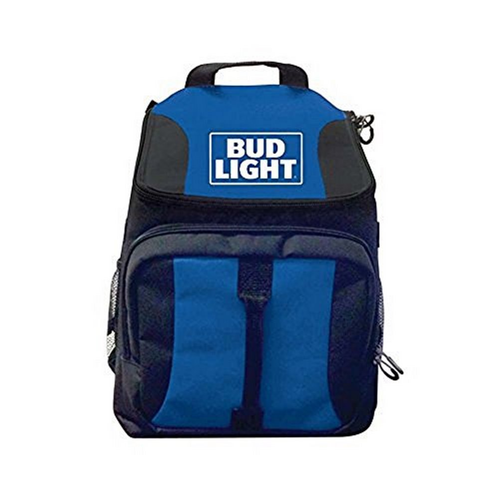 40 Can Duffel bag Bud Light cooler with shoulder straps and handle straps, side and front compartments