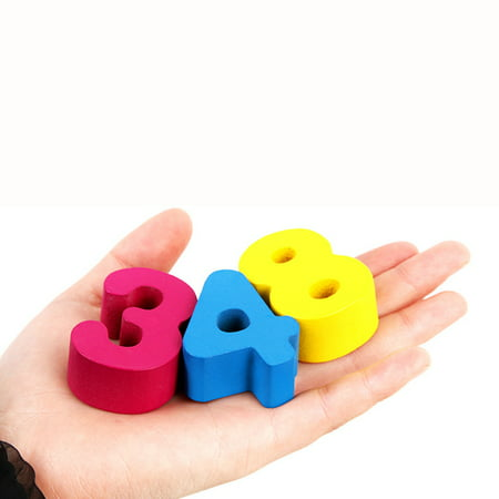 Kids Wood Sorting Puzzles Toys Shape Sorter Number and Math Stacking Blocks Toddlers Learning Toys Gift, Montessori Toys for Toddlers, Preschool Teaching, Early Education Toy - image 5 de 6