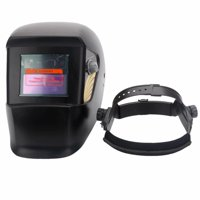 WS-109 Solar Powered Auto Darkening Welding Helmet Black