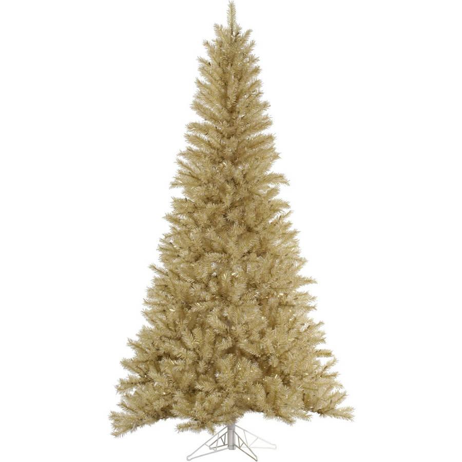 Vickerman 5.5' White-Gold Tinsel Artificial Christmas Tree, Unlit