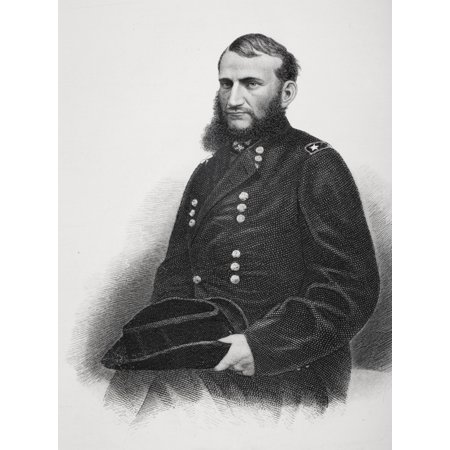 Judson Kilpatrick 1836 To 1881 Union General During American Civil War From Photography By Matthew Brady Stretched Canvas - Ken Welsh  Design Pics (12 x 17)