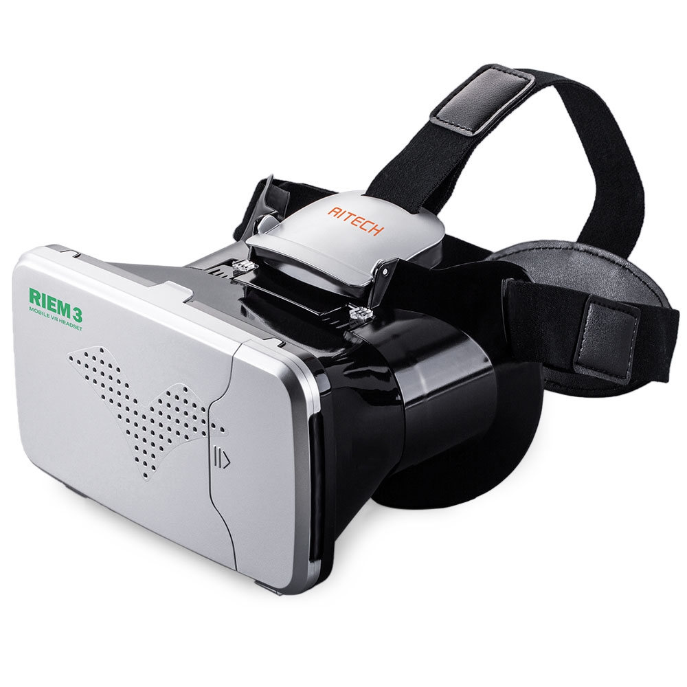 RITECH Riem III Virtual Reality 3D Head-Mounted Glasses with Remote Control
