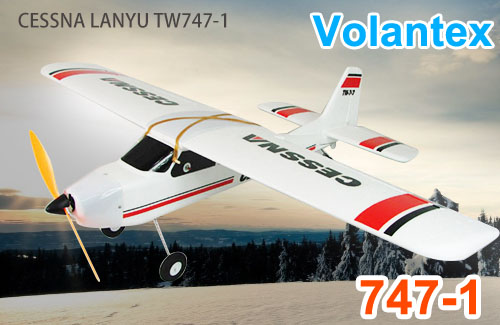 Volantex 2.4GHz RC TW 747-1 CESSNA Radio Remote Control Big Glider Airplane RC EPO by