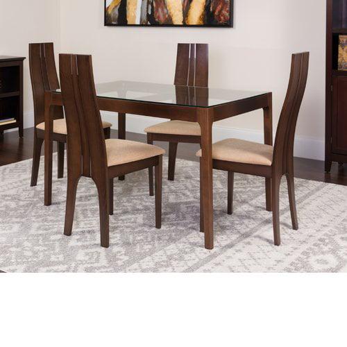 Winston Porter Huntsman 5 Piece Solid Wood Dining Set