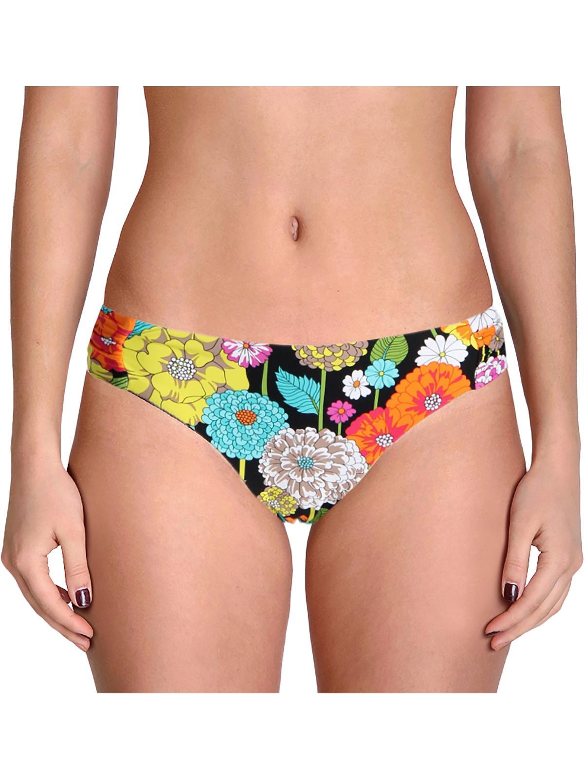 Trina Turk Womens Santiago Floral Print Shirred Swim Bottom Separates