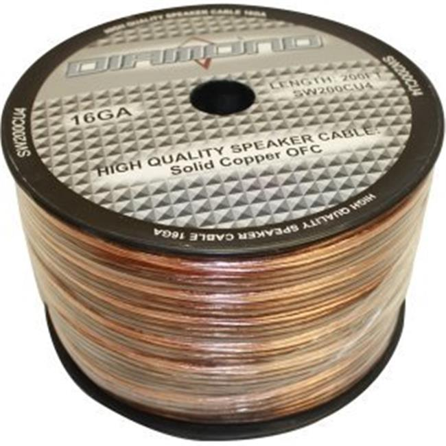 Diamond SW200CU4 Diamond Bulk Speaker Wire 16 ga.  65 Strand Solid Copper 4 Conductor 200 ft.