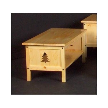 Pine Tree Rectangular Log Coffee Table Clear