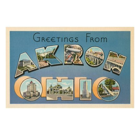 Greetings from Akron, Ohio Print Wall Art](Halloween Stores In Akron Ohio)