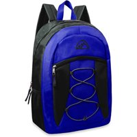 Mountain Edge 17'' Bungee Front Pocket Backpack (Black/Blue)