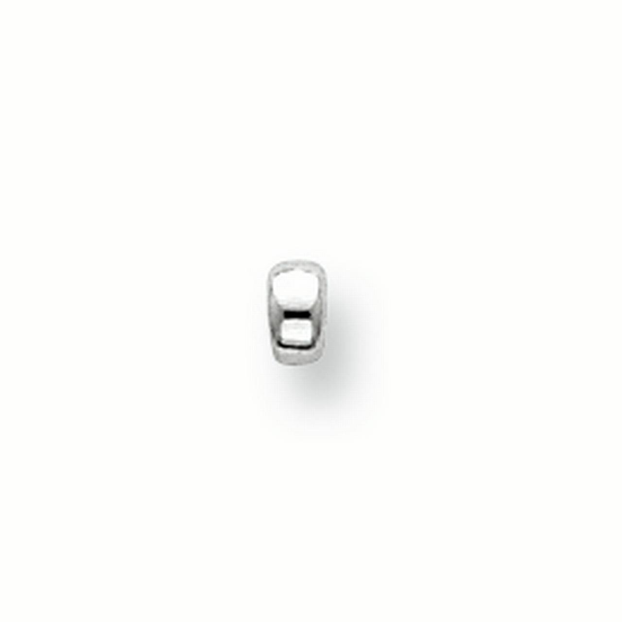 Sterling Silver 1.6 x 3.2mm Polished Roundel